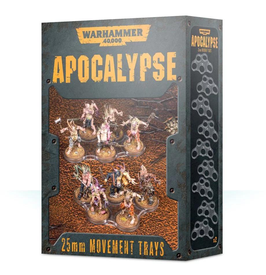 Bandejas de movimiento de 25mm de Apocalypse